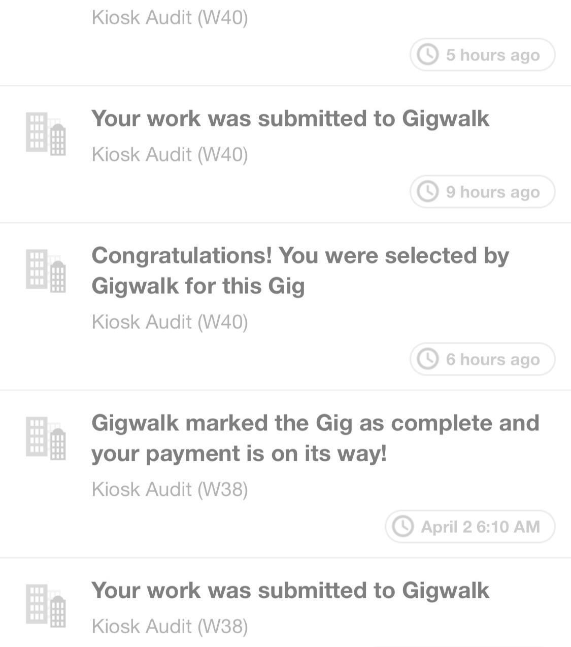 Gigwalk activity
