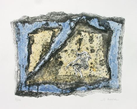 7- Cueilleur - gravure sur carton - 33x4