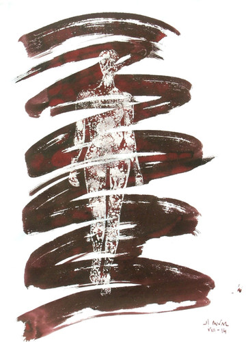 14- Emergent - teinture et vernis - 40x3