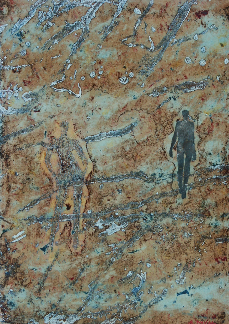 25-Emergents-2008-Huile sur toile-46x33c