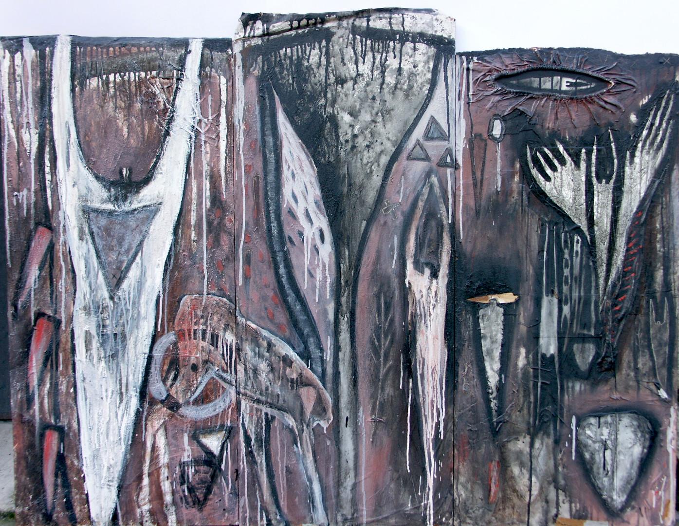 11-Graal-1990-Acrylique et collage sur b