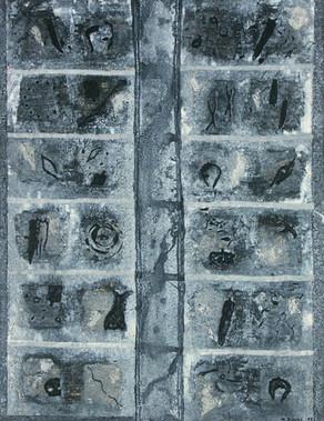 Case par case 2-1997-Acrylique sur colla