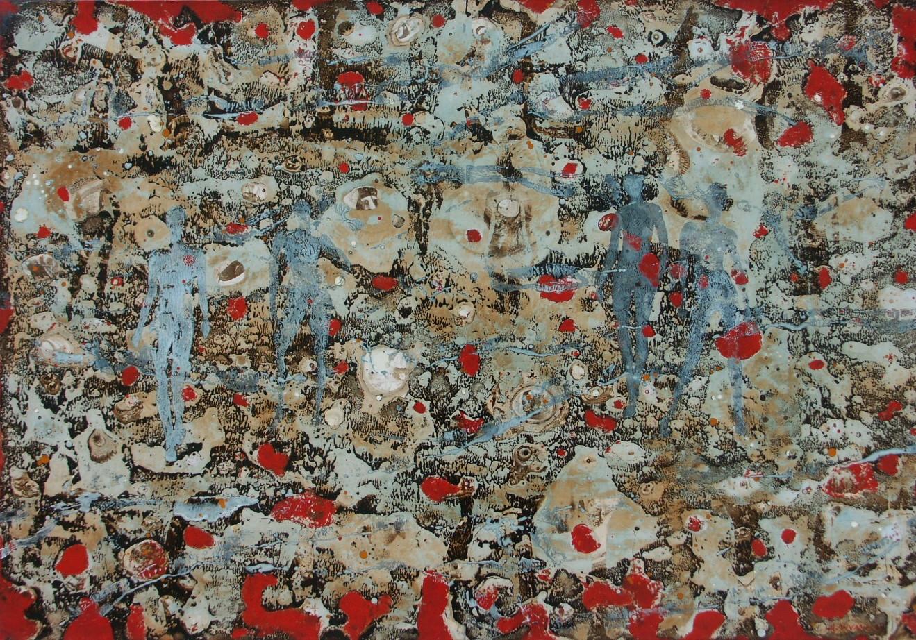 1-Emergents-2009-Huile sur toile-65x92cm