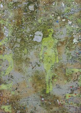 26-Emergent-2009-Huile sur toile-46x33cm