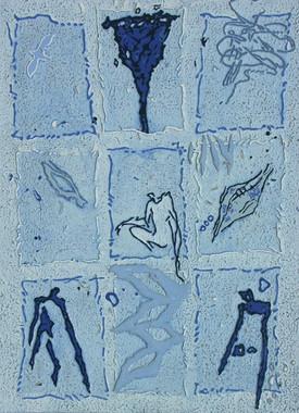 Case par case 18-2001-Acrylique sur toil