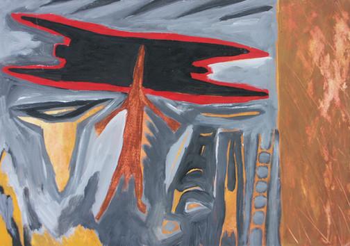 5-Survol-1989-Gouache sur carton-25x40cm