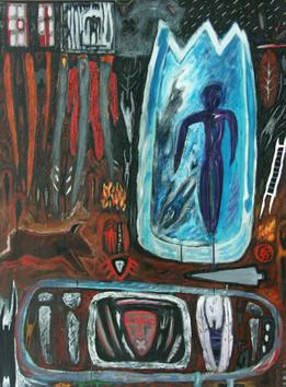7-A rebours-1989-Acrylique sur toile-130