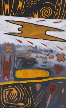 6-Survol-1989-Gouache sur carton-40x25cm