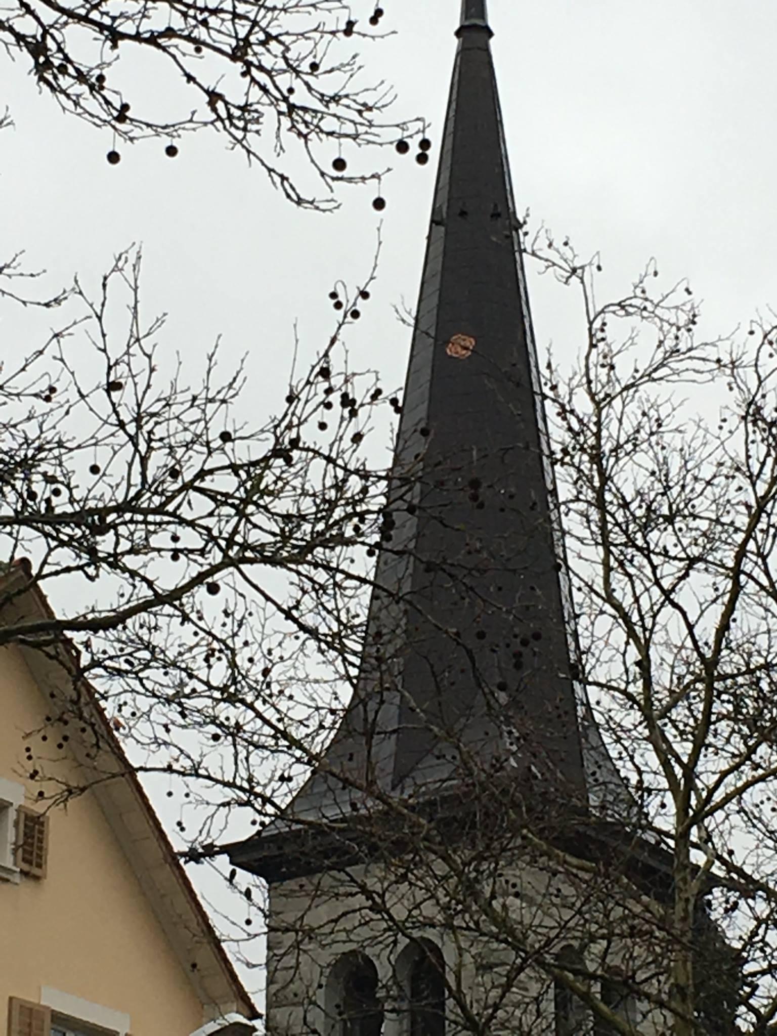 Westen Kirchturm Bremgarten
