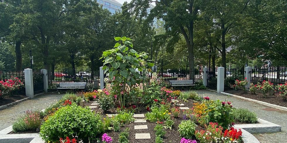 Gardening in Columbus Park