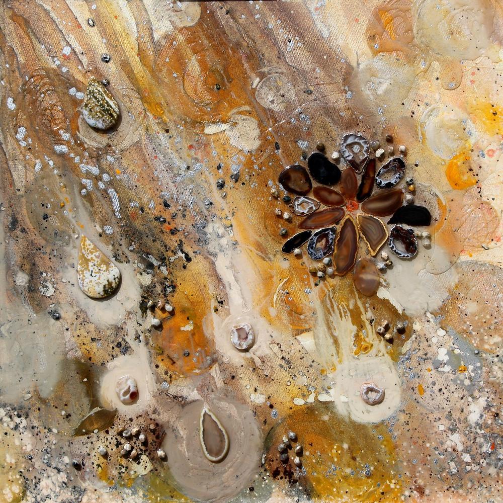 "Geometries of Living Light, 24""x24"" painting"
