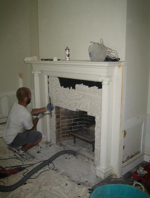 Fireplace modification
