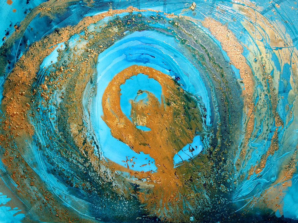 Cosmic Disclosure, Abstract Visionary Painting by Laura McClanahan