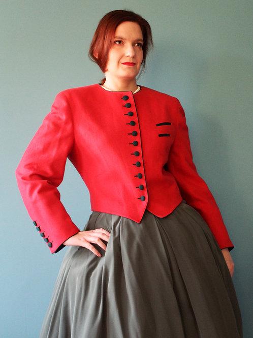Lata osiemdziesiąte jak czterdzieste - wełniany żakiet bawarski czerwony