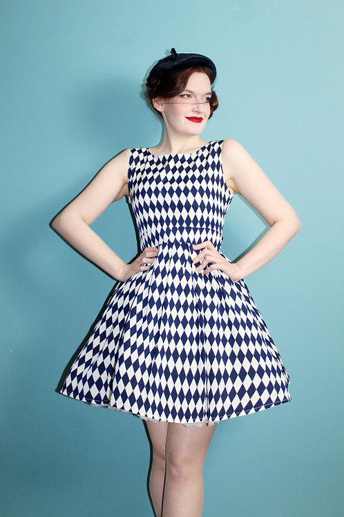 Nowa z metkami - tenki rozkloszowana sukienka arlekin