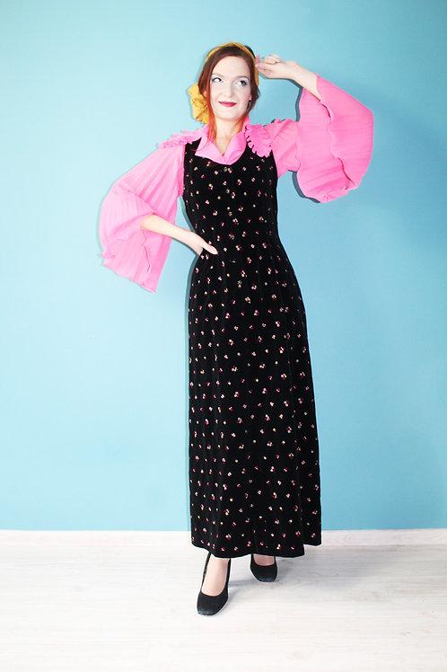 Lata siedemdziesiąte jak dirndl folkowa sukienka hipisowska boho hippie