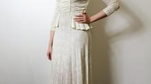 Koronkowa suknia ślubna - przełom lat trzydziestych i czterdziestych