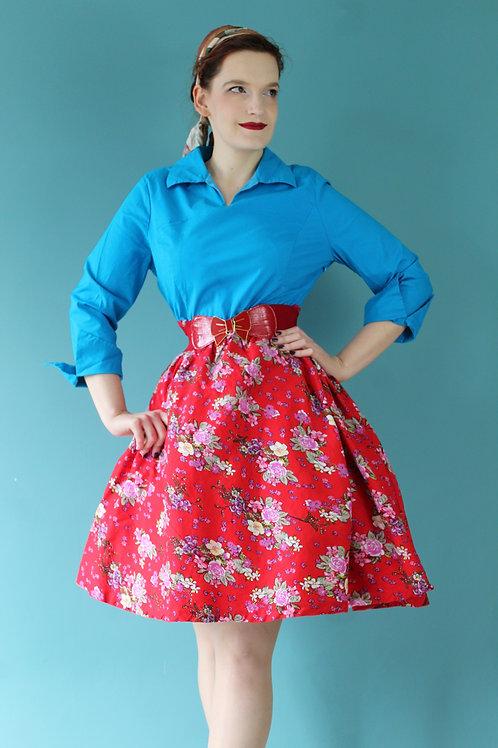 Lindy Bop - dwukolorowa sukienka rozkloszowana w stylu lat pięćdziesiątych