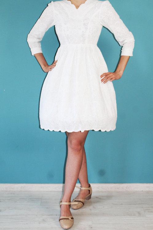 Lata pięćdziesiąte/sześćdziesiąte - sukienka komunijna dziecięca