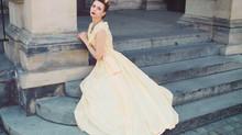 Balowa suknia z lat czterdziestych