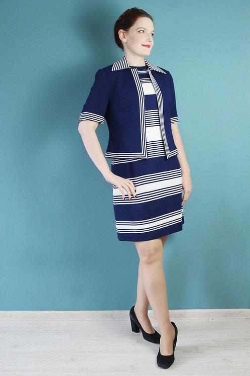 Lata sześćdziesiąte - mod zestaw sukienka i żakiecik