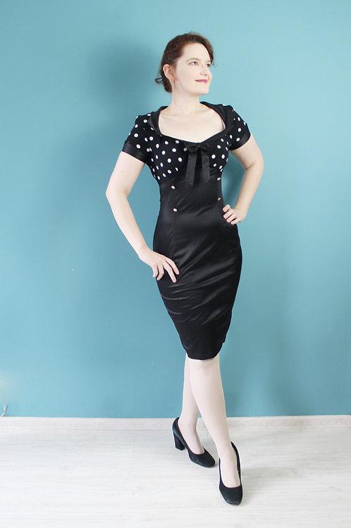 Lady Vintage London - sukienka pin-upowa bawełniana groszki
