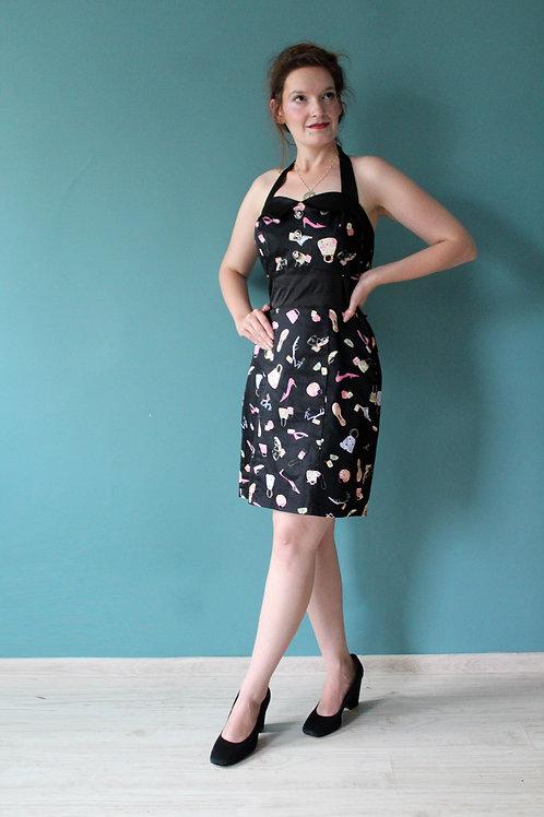 Hearts and Roses - pin-upowa sukienka ołówkowa we flakony