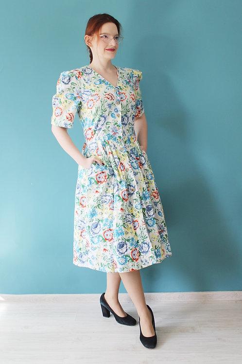Jak Laura Ashley bawełniana sukienka w kwiaty