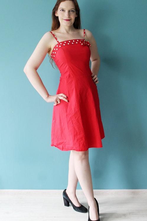 Modern retro jak lata pięćdziesiąte - bawełniana sukienka pin up groszki