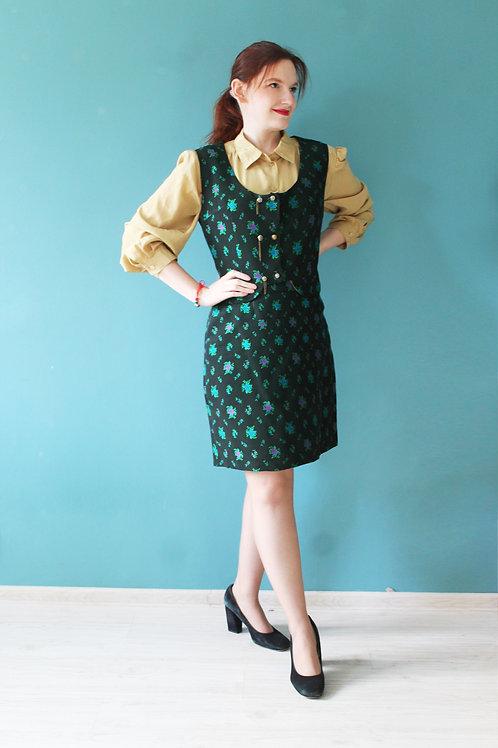 Lata sześćdziesiąte - bawarski komplet spódnica + kamizelka