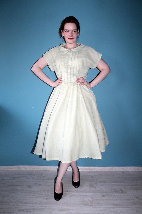 Lata osiemdziesiąte jak pięćdziesiąte - bawełniana rozkloszowana sukienka
