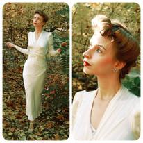 CC41 - Suknia ślubna z lat czterdziestych