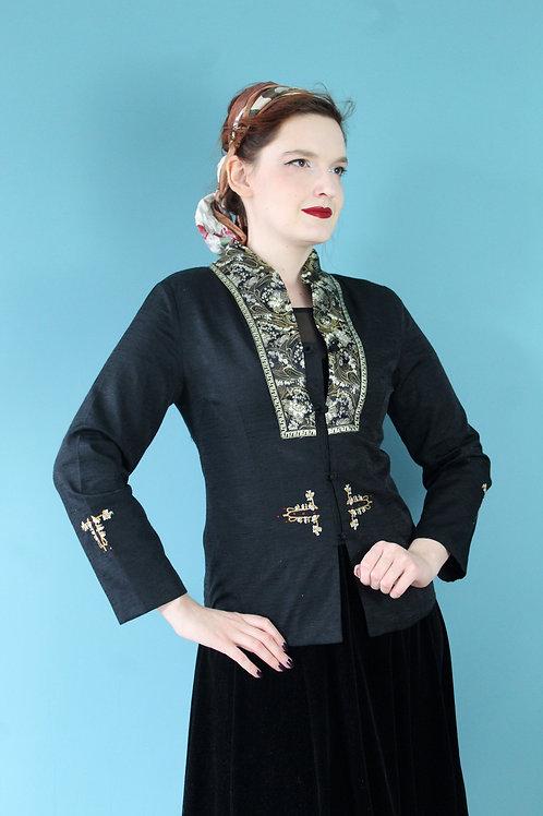 Jak lata pięćdziesiąte - jedwabna kurtka chińska haftowana