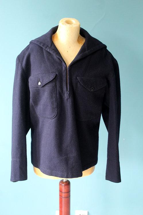 Lata pięćdziesiąte/sześćdziesiąte - wełniana bluza marynarska granatowa