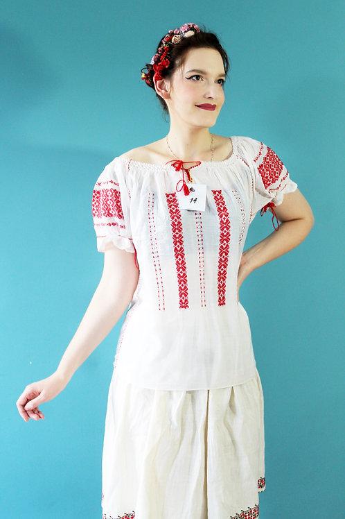 Lata trzydzieste/czterdzieste - folkowa spódnica bułgarska