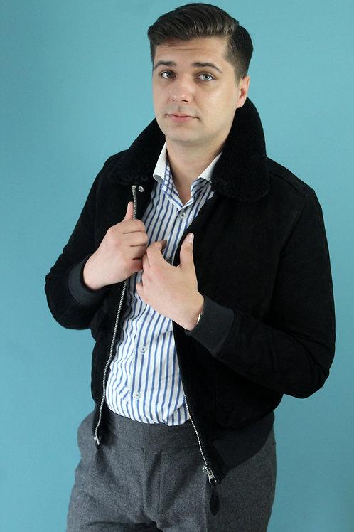 Jak lata siedemdziesiąte Schott - zamszowa kurtka
