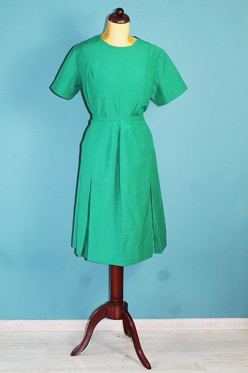 Lata sześćdziesiąte/siedemdziesiąte - zielony komplet spódnica + bluzka