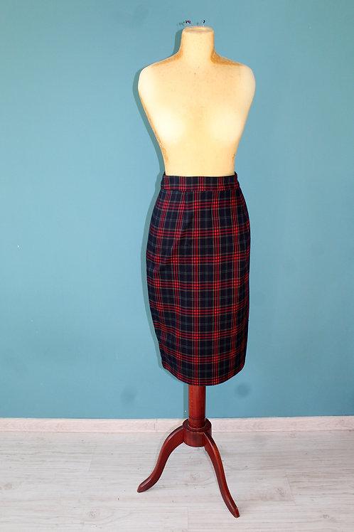 Collectif - spódnica ołówkowa w kratę midi jak lata 1950te
