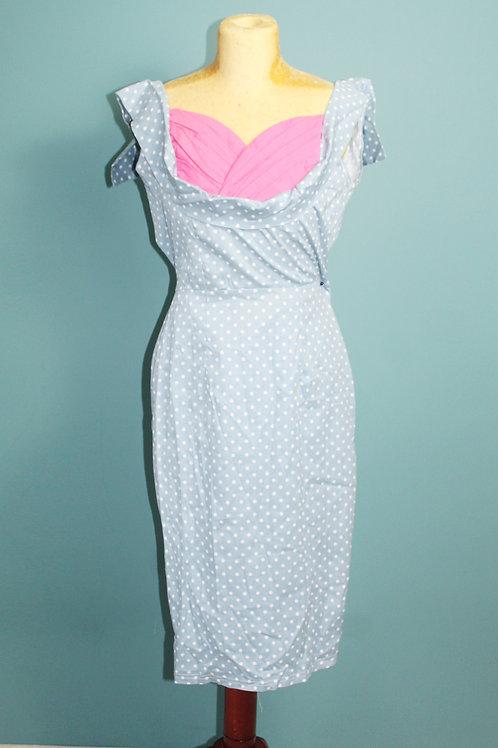 Pin-up sukienka jak lata pięćdziesiątych w groszki jak Lindy Bop