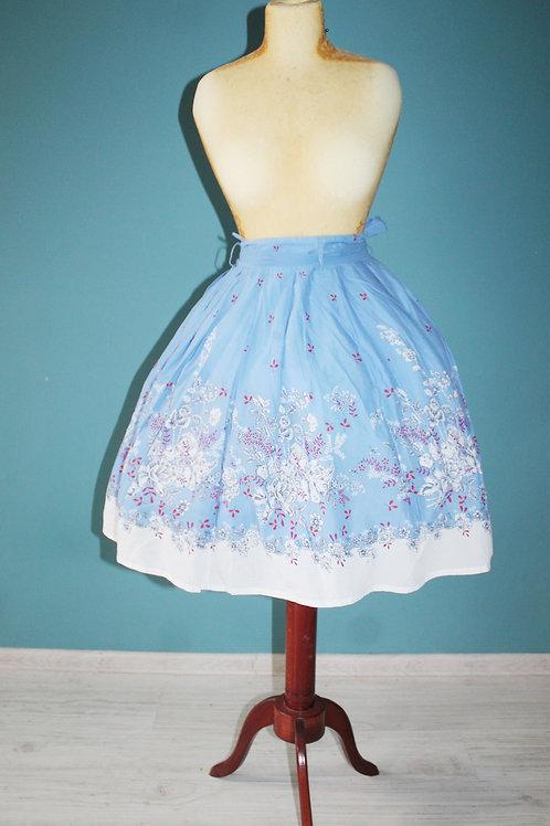 Modern retro jak lata pięćdziesiąte - rozkloszowana bawełniana spódnica midi