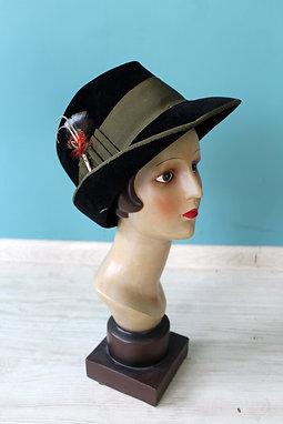 Lata pięćdziesiąte/sześćdziesiąte - kapelusz alpejski Flechet