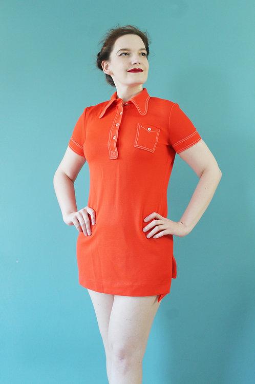 Lata sześćdziesiąte - Peggy Lane - sukienka sportowa tunika