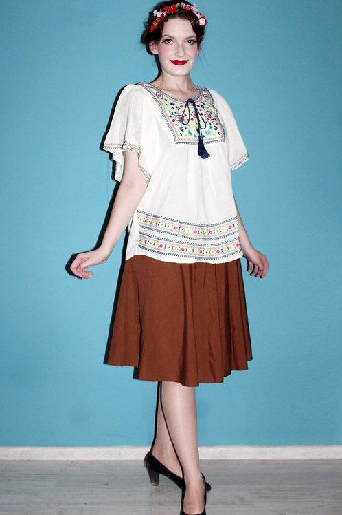 Voodoo Vixen - bluzka haftowana w stylu przedwojennych bluzek węgierskich