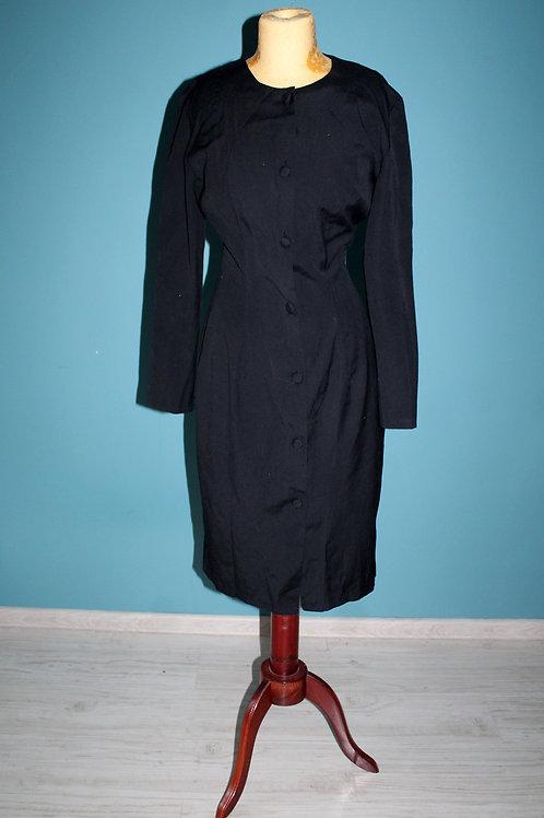 Lata osiemdziesiąte - szmizjerka Topshop czarna długi rękaw