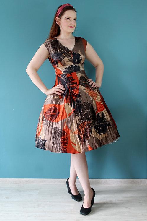 Modern Retro - 100% jedwab rozkloszowana sukienka hawajska jak 1950s