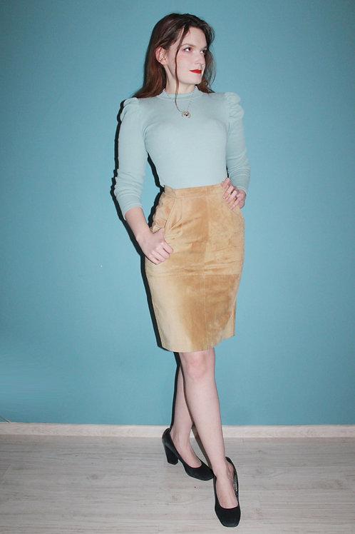Lata osiemdziesiąte - skórzana spódnica elegancka