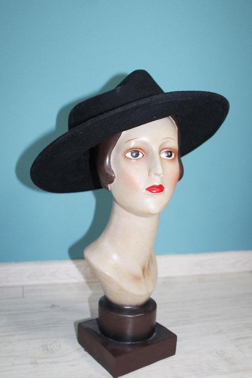 Jak lata siedemdziesiąte - kapelusz z szerokim rondem wełniany