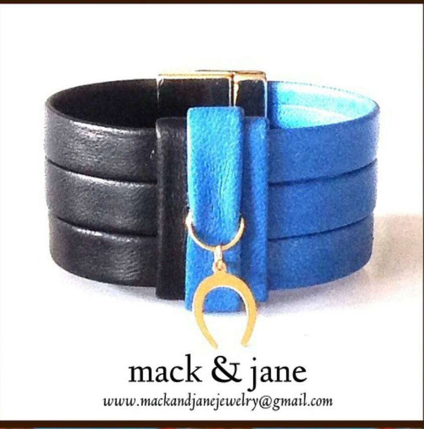 Mack and Jane cuff in navy & azure