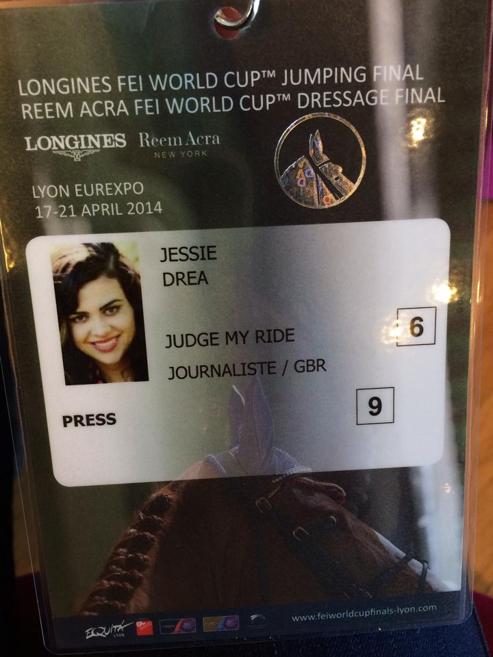 Jessie's Judge My Ride Press Pass