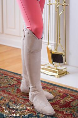 Matching interchangeable boot top